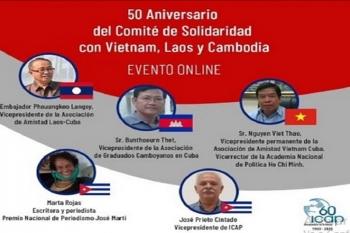 Tọa đàm Kỷ niệm 50 năm thành lập Uỷ ban Cuba đoàn kết với Việt Nam, Lào và Campuchia