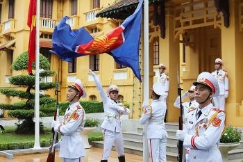 Những hình ảnh đẹp nhất trong Lễ thượng cờ kỷ niệm 53 năm thành lập ASEAN