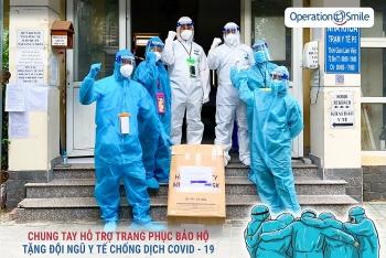 Operation Smile Việt Nam tổ chức quyên góp mua 3.000 vật phẩm bảo hộ chuyển đến TP.HCM