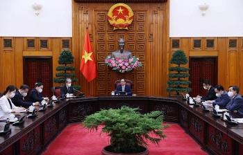 Thủ tướng Chính phủ Phạm Minh Chính tiếp Đại sứ Trung Quốc tại Việt Nam Hùng Ba