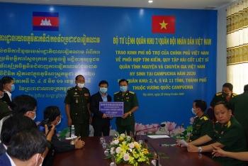 Vương quốc Campuchia quyết tâm hỗ trợ Việt Nam tìm kiếm, quy tập hài cốt liệt sĩ đưa về nước