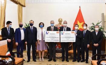 Pháp và Italia tặng 1,5 triệu liều vaccine phòng Covid-19 cho Việt Nam