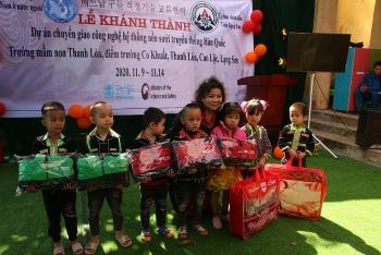 ALOV, GNW giúp trẻ em điểm trường Co Khuất (Lạng Sơn) ấm áp vượt mùa đông