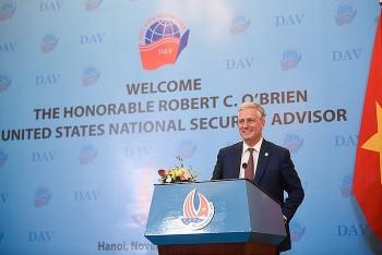 Cố vấn An ninh quốc gia Hoa Kỳ ấn tượng về sự trẻ trung, năng động, hiếu khách của người dân và đất nước Việt Nam