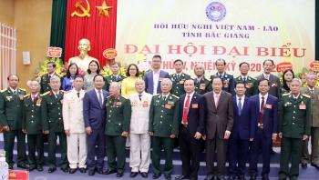 Ông Nguyễn Xuân Khởi, Chủ tịch Hội Hữu nghị Việt Nam - Lào tỉnh Bắc Giang khóa III tiếp tục được bầu giữ chức Chủ tịch khóa IV