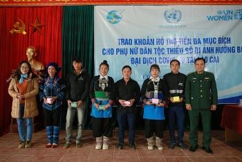 600 hộ nghèo và dân tộc thiểu số tại Lào Cai bị ảnh hưởng COVID-19 được UN Women hỗ trợ