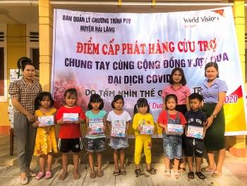 World Vision Việt Nam tiếp tục cứu trợ cho trẻ em và các gia đình dễ bị tổn thương tại Quảng Trị
