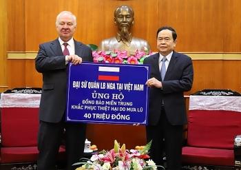 Đại sứ quán Nga tại Việt Nam ủng hộ 40 triệu đồng hỗ trợ các tỉnh miền Trung, Tây Nguyên