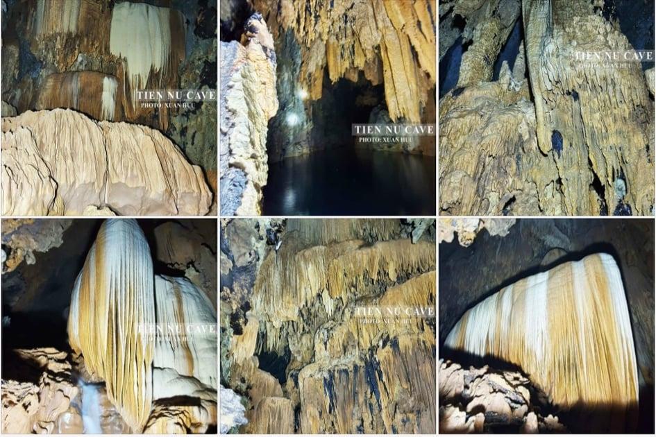 Những nhũ thạch trải qua hàng triệu năm hình thành lung linh muôn săc màu
