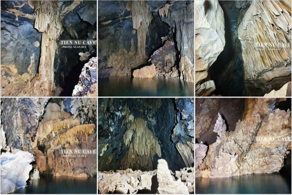 Nhiều nhũ thạch rất đẹp trong hang Tiên Nữ