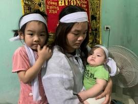 Nghệ An: Xót cảnh con thơ gào khóc đòi cha sau vụ tai nạn giao thông