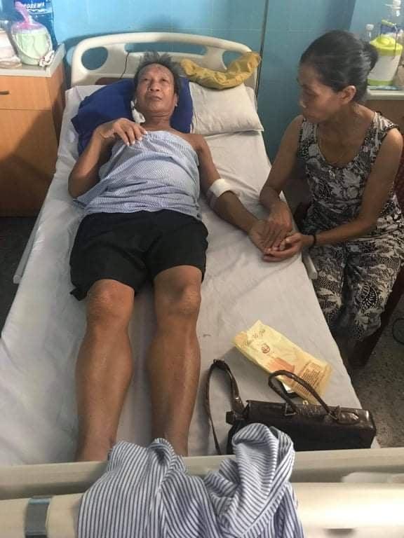 Ông nội bé Kiệt chạy thận đã 2 năm nay, sức khỏe ngày càng yếu