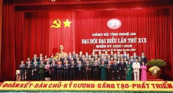 Bế mạc Đại hội đại biểu Đảng bộ tỉnh Nghệ An lần thứ 19, nhiệm kỳ 2020-2025