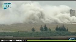 video khoanh khac nga doi bom danh sap trung tam dau nao cua phien quan syria