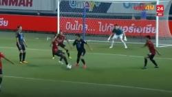 Video: Cầu thủ Port FC vẫn sút tung lưới Đặng Văn Lâm dù 10 đồng đội Muangthong về che chắn