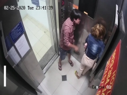 video nguoi phu nu bi ga dan ong dam da trong thang may o tphcm