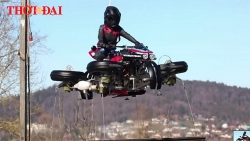 video can canh chiec sieu motor co the chay va bay tren duong