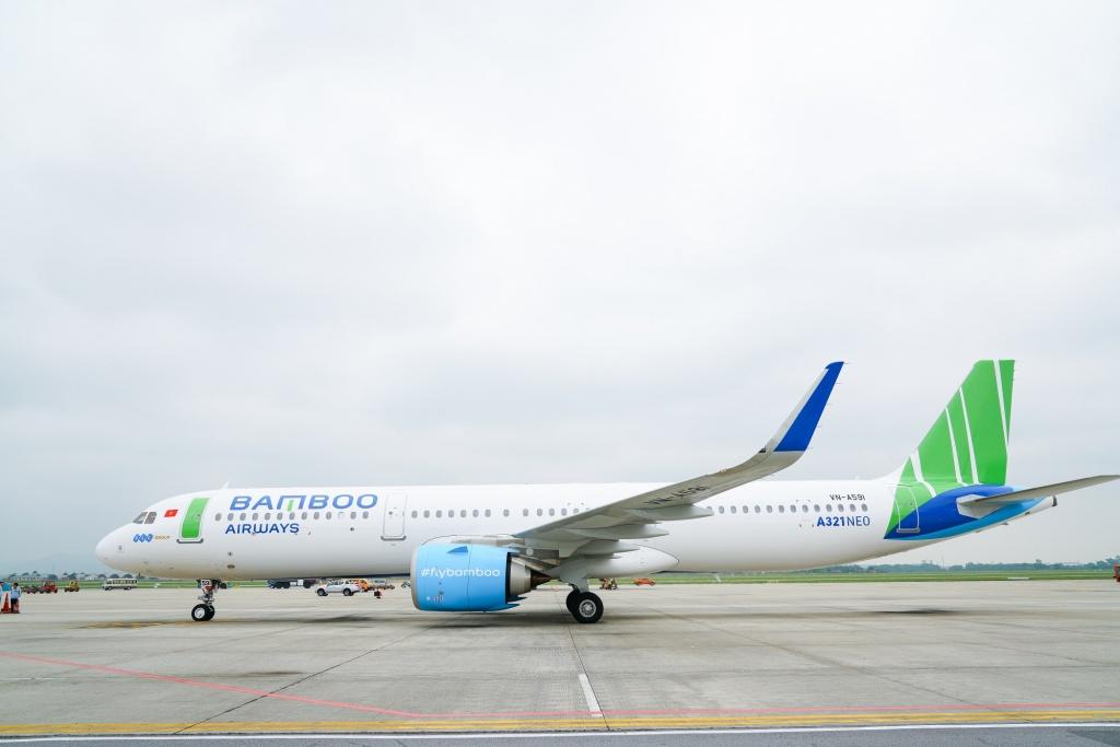 may bay than rong boeing 787 dreamliner cua bamboo airways se duoc khai thac tren duong bay thang toi cong hoa sec