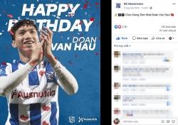sc heerenveen chuc mung sinh nhat van hau tren facebook