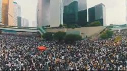 video trieu nguoi hong kong do xuong duong bieu tinh