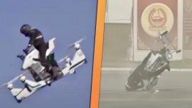 Cảnh sát Dubai rơi xuống đất khi đang thử nghiệm xe bay ở độ cao 30 m