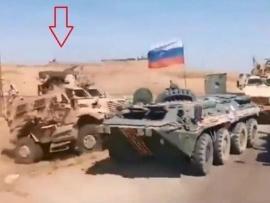 Đoàn xe quân sự Mỹ bao vây, chặn xe bọc thép của Nga giữa đường