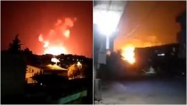 Khoảnh khắc các căn cứ quân sự của Syria bị không kích nghi do Israel