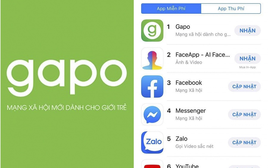 vuot facebook dung top 1 app store gapo doi dien voi nhieu trac tro