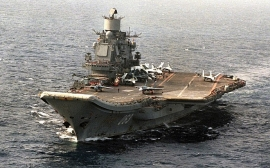 Clip: Tàu sân bay Đô đốc Kuznetsov của Nga khoe uy lực hiếm có trên biển