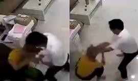 Clip: Phẫn nộ người đàn ông đánh đập nữ nhân viên văn phòng dã man giữa ban ngày