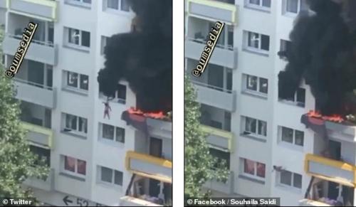 Clip: Thót tim cảnh hai em bé nhảy từ độ cao 12 m để thoát khỏi đám cháy an toàn