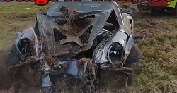 video porsche 911 phong 365 kmh gap nan tai xe van an toan