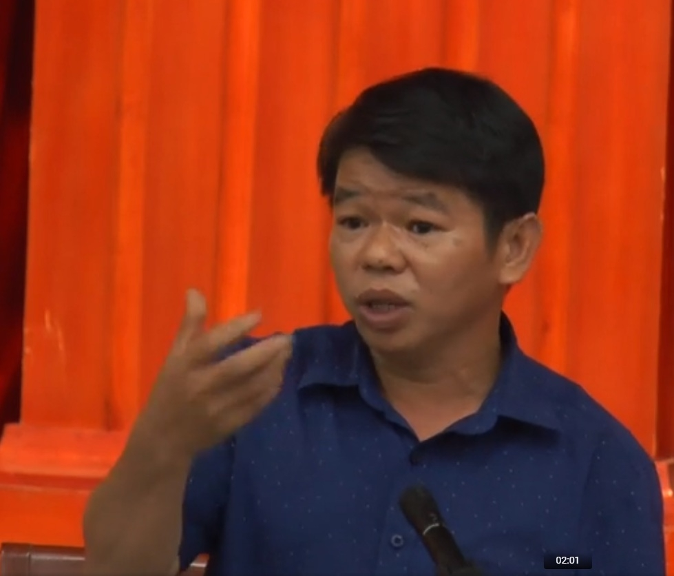 video tgd cong ty nuoc sach song da mien cuong xin loi dan