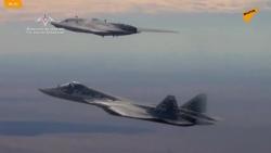"""Video: """"Thợ săn"""" Nga song tấu với Su-57 trên bầu trời"""