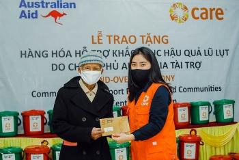 Hàng hóa hỗ trợ khắc phục hậu quả bão lụt tới tay người dân 3 tỉnh miền Trung
