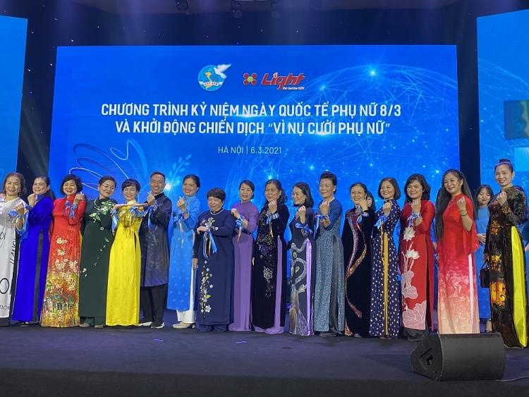 """Hội LHPN Việt Nam khởi động chiến dịch """"Vì nụ cười phụ nữ"""""""