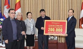 Hội Hữu nghị Campuchia – Việt Nam cảm ơn nhân dân Việt Nam tặng vật tư y tế chống dịch COVID-19