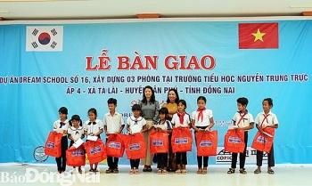 Tổ chức COPION (Hàn Quốc) tài trợ 3 phòng học cho trẻ em nghèo tỉnh Đồng Nai