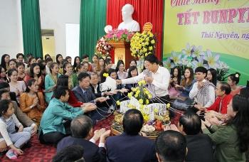 Hơn 250 lưu học sinh Lào đón Tết Bunpimay 2021 tại Thái Nguyên