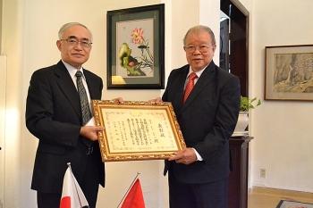 Cống hiến trong nông nghiệp và tăng cường quan hệ hữu hảo, Giáo sư Võ Tòng Xuân nhận Huân chương của Nhật Bản