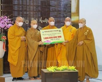 Tăng ni, phật tử TP.HCM ủng hộ nhân dân Ấn Độ 1 tỉ đồng chống COVID-19