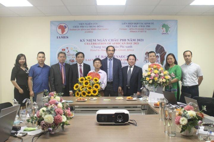 Các đại biểu tham dự lễ ra mắt Liên hiệp Hợp tác Kinh tế Việt Nam - Châu Phi (VAECA).