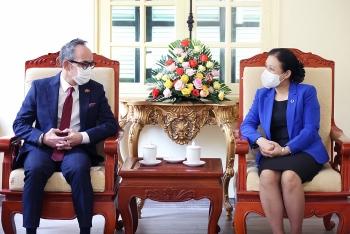 Đại sứ quán Thái Lan và VUFO trao đổi thông tin về các hoạt động kỷ niệm 45 năm thiết lập quan hệ ngoại giao hai nước