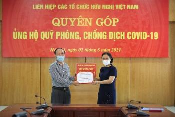 Liên hiệp các tổ chức hữu nghị Việt Nam phát động quyên góp, ủng hộ Quỹ vắc-xin phòng COVID-19