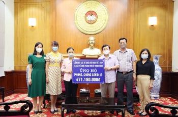 Liên hiệp Hữu nghị trao tiền quyên góp, ủng hộ công tác phòng, chống dịch COVID-19