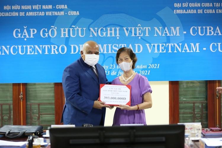 Hội hữu nghị Việt Nam - Cuba chia sẻ thông điệp đoàn kết với nhân dân Cuba