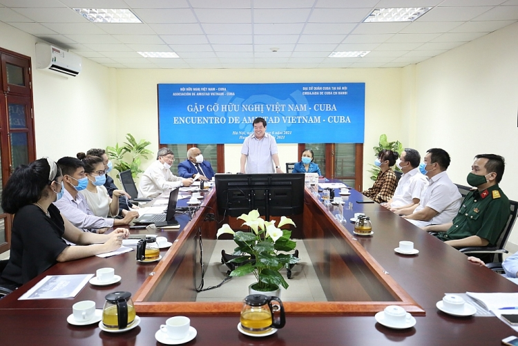 Quảng cảnh buổi Gặp gỡ hữu nghị Việt Nam - Cuba năm 2021. (Ảnh: Tuấn Việt)