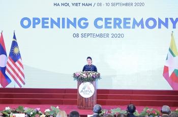 Chủ tịch Quốc hội Nguyễn Thị Kim Ngân: Nghị viện cần sát cánh Chính phủ đẩy lùi COVID-19, khôi phục kinh tế