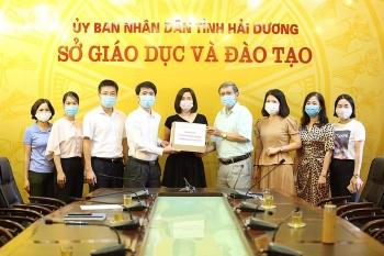 Tập đoàn LS và Tổ chức COPION (Hàn Quốc) hỗ trợ 554 triệu đồng cho y tế trường học ở Hải Dương