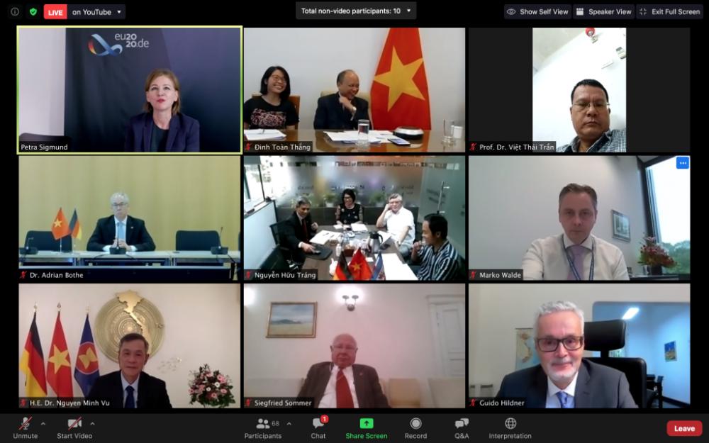 Tọa đàm trực tuyến kỷ niệm 45 năm quan hệ Việt Nam-Đức: Thúc đẩy hợp tác giữa hai nước trong tất cả các lĩnh vực